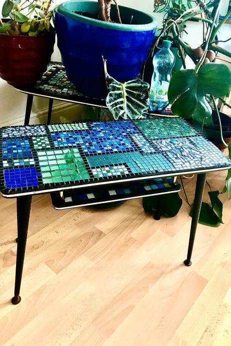 PRETTY patchWork MARNIE upcycled mosaic oRIGINAL vintage coffee table