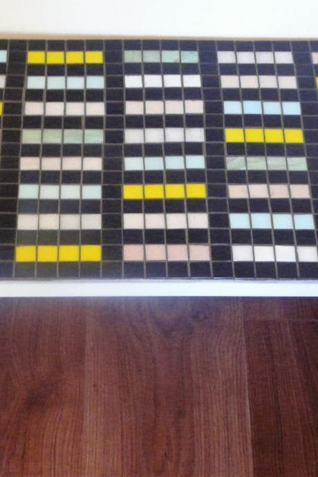 Barcode -Vintage 50's coffee table mosaic with striking design