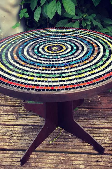 Rainbow Target Bakelite Art Deco circa 1930 coffee table